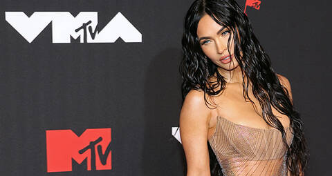 Megan Fox wears Mugler at the MTV Video Music Awards 2021