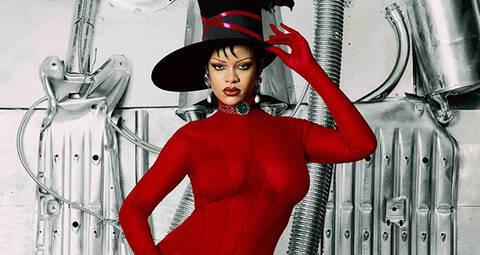 Rihanna trägt maßgefertigte Mugler-Mode für das Dazed Magazine