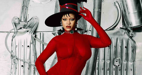 Rihanna wears custom Mugler for Dazed Magazine