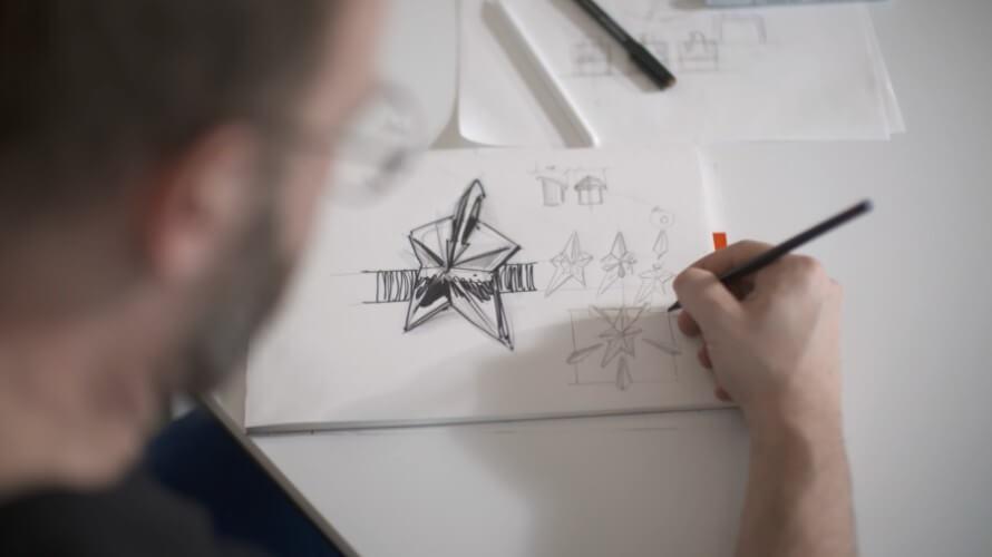 Skizzieren des Flakons