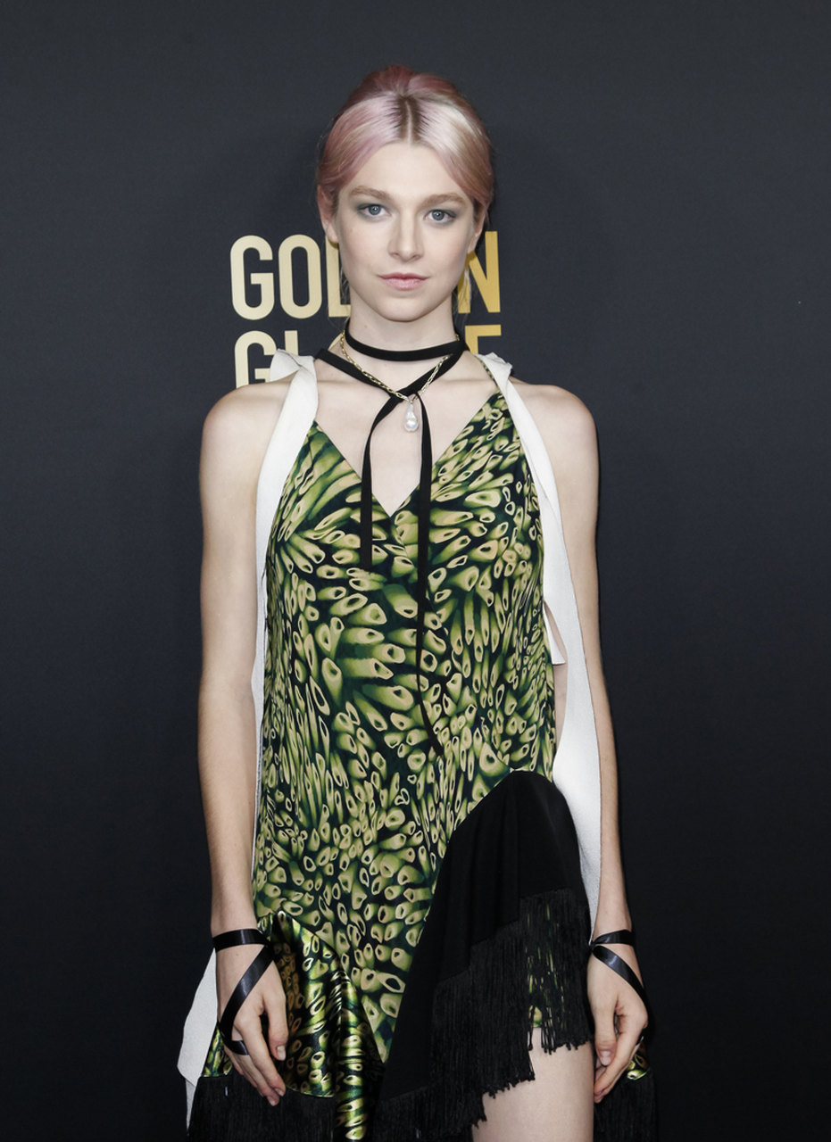 Hunter Schafer at the Golden Globes Ambassador Party wearing MUGLER
